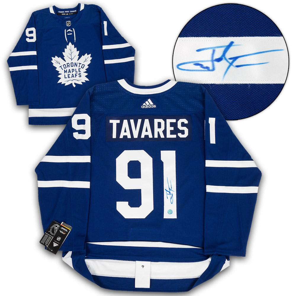 1abbdc619 John Tavares Signed Toronto Maple Leafs Adidas Pro Blue Jersey   Prize  Auctions