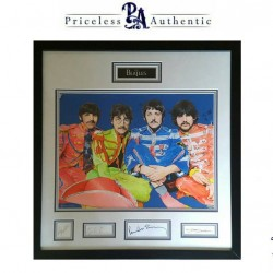 The BEATLES Quadruple Signature Sgt. Peppers Lonely Hearts Club Band Original Art