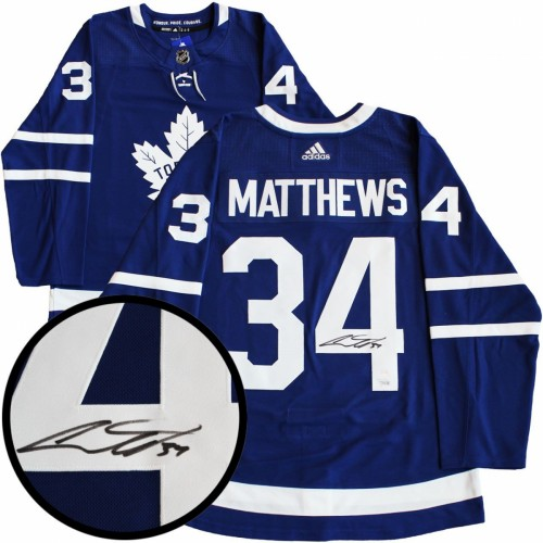 the latest 3345b cb229 DIAMOND LEVEL Auston Matthews Signed Toronto Maple Leafs Adidas Pro Blue  Jersey