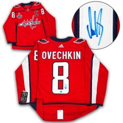 DIAMOND LEVEL Alexander Ovechkin Signed Washington Capitals Adidas Pro Red Jersey