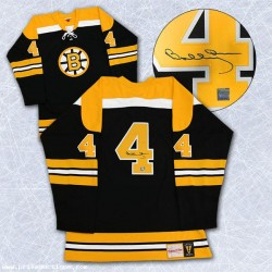 DIAMOND LEVEL Bobby Orr Signed Boston Bruins Pro Vintage Black Jersey