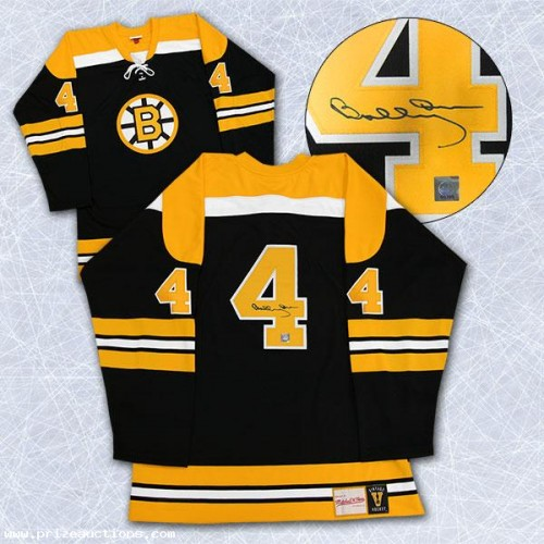 sale retailer 05e94 6c61f DIAMOND LEVEL Bobby Orr Signed Boston Bruins Pro Vintage Black Jersey