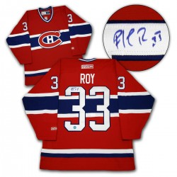 PLATINUM LEVEL Patrick Roy Signed Montreal Canadiens Red CCM Vintage Jersey