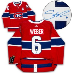SILVER LEVEL Shea Weber Signed Montreal Canadiens Adidas Pro Red Jersey